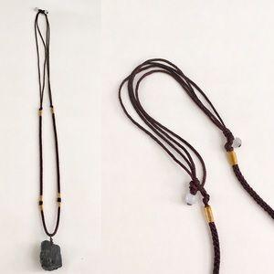 Jewelry - Raw Black Tourmaline Adjustable Necklace